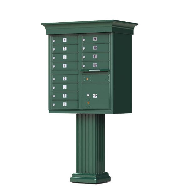 1570-12V 12 Tenant Door Classic Decorative Cluster Mailbox Unit–CBU