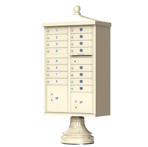 1570-16V2 16 Tenant Door Traditional Decorative Cluster Mailbox Unit–CBU