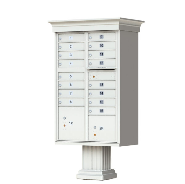 1570-16V 16 Tenant Door Classic Decorative Cluster Mailbox Unit–CBU