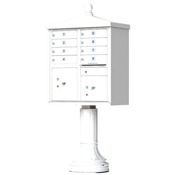 1570-8V2 8 Tenant Door Traditional Decorative Cluster Mailbox Unit–CBU