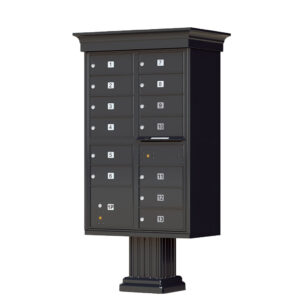 1570-13V 13 Tenant Door Classic Decorative Cluster Mailbox Unit – CBU