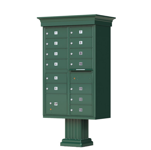 1570-13V 13 Tenant Door Classic Decorative Cluster Mailbox Unit – CBU