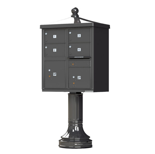 1570-4T5V2 4 Tenant 2 Parcel Traditional Decorative Cluster Mailbox Unit–CBU