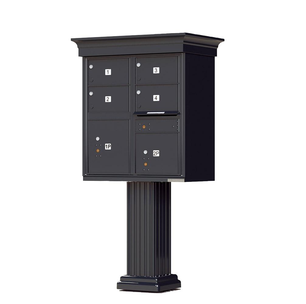 1570-4T5V 4 Tenant Door Classic Decorative Cluster Mailbox Unit – CBU