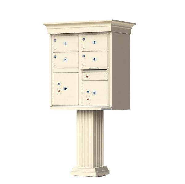 1570-4T5V 4 Tenant Door Classic Decorative Cluster Mailbox Unit – CBU
