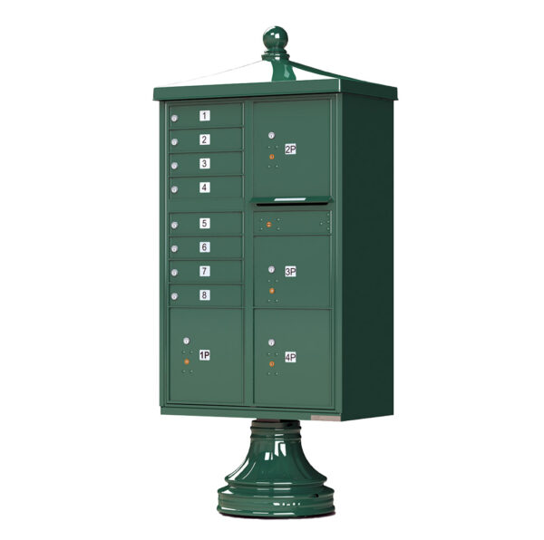 1570-8T6V2 8 Tenant 4 Parcel Traditional Decorative Cluster Mailbox Unit–CBU