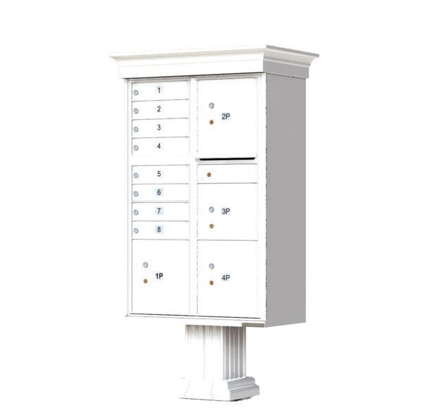 1570-8T6V 8 Tenant 4 Parcel Classic Decorative Cluster Mailbox Unit – CBU