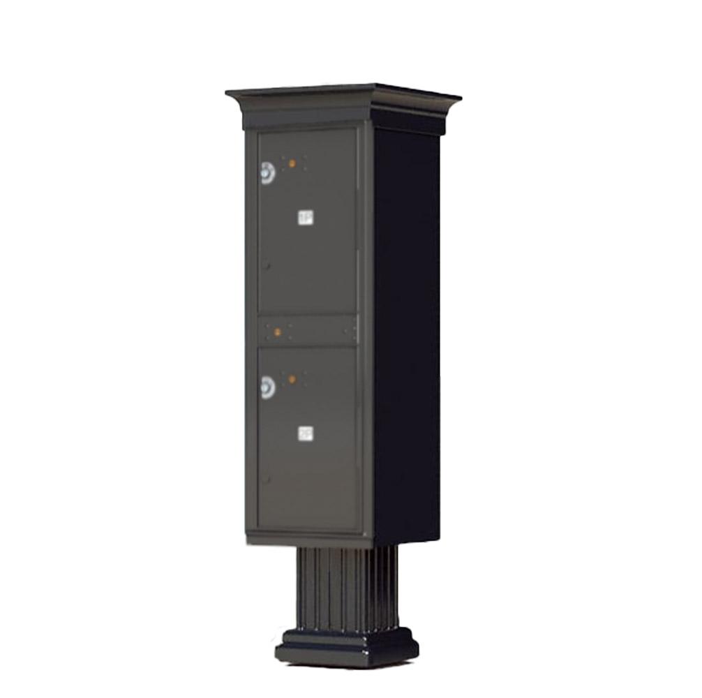 Gray 2 Parcel Outdoor Parcel Locker Classic Decorative