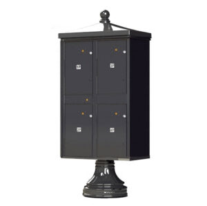 Grey 4 Parcel Outdoor Parcel Locker Traditional Decorative
