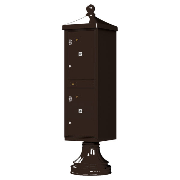 Brown 2 Parcel Outdoor Parcel Locker Traditional Decorative