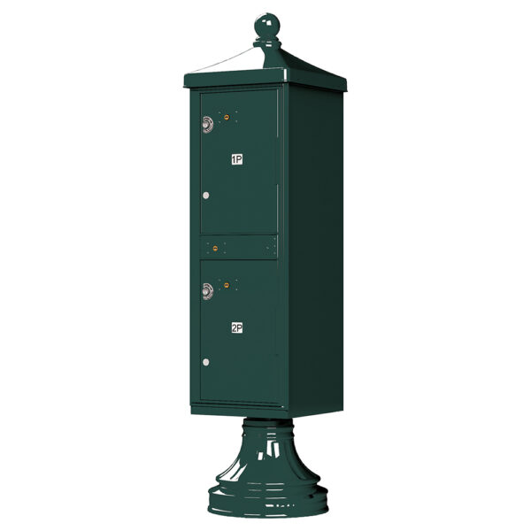 Green 2 Parcel Outdoor Parcel Locker Traditional Decorative