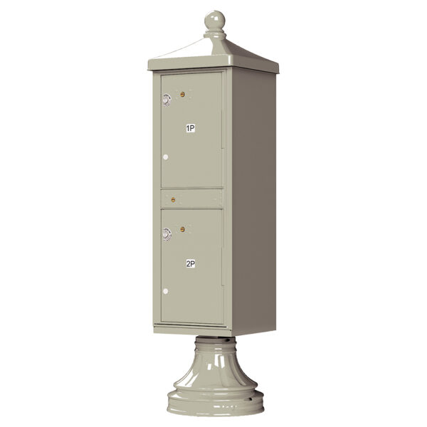 Postal Grey 2 Parcel Outdoor Parcel Locker Traditional Decorative