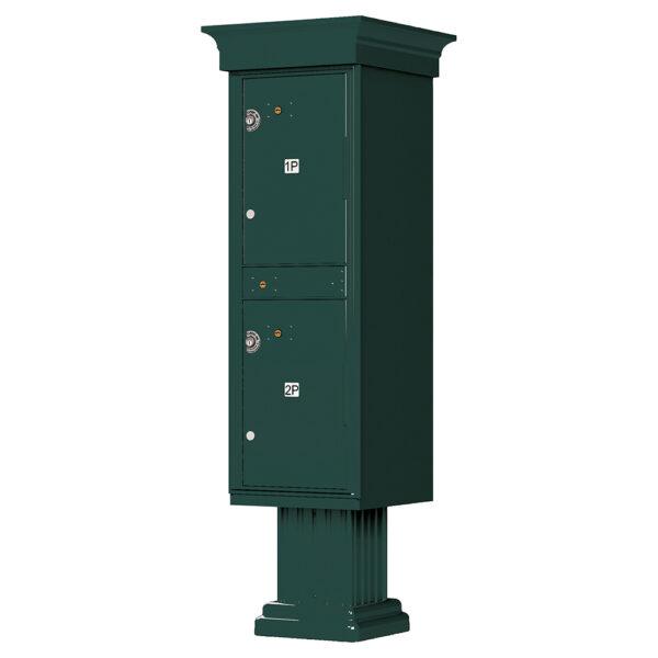 1590_T1V Green 2 Parcel Outdoor Parcel Locker Classic Decorative
