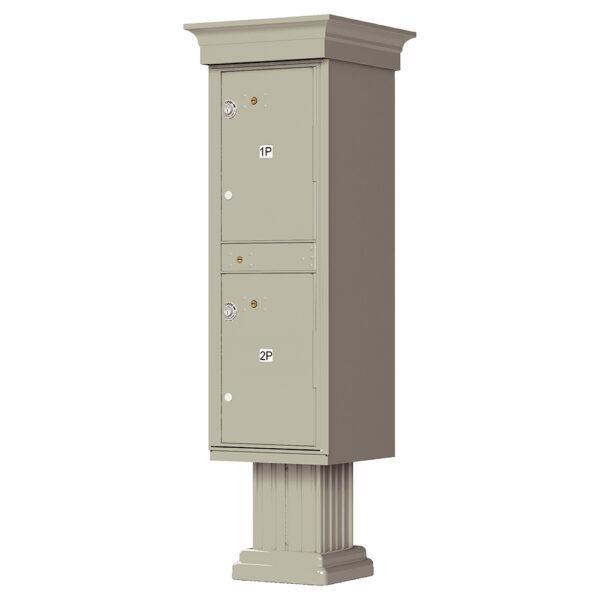 1590_T1V Postal Supply 2 Parcel Outdoor Parcel Locker Classic Decorative