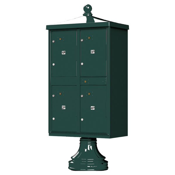 green 4 Parcel Outdoor Parcel Locker Traditional Decorative