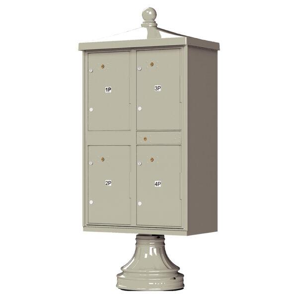 Postal Grey 4 Parcel Outdoor Parcel Locker Traditional Decorative