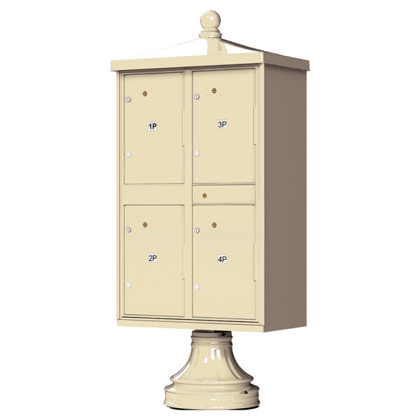 4 Parcel Outdoor Parcel Locker Traditional Decorative - Sandstone