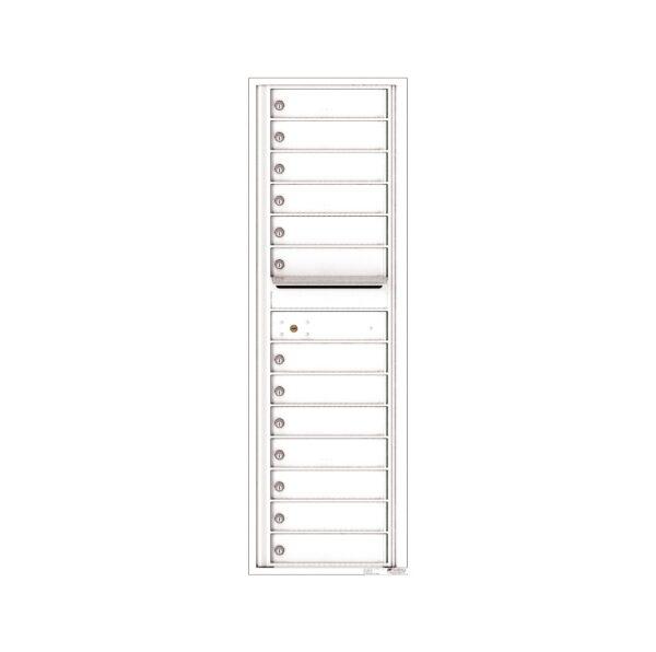 4C15S-13 13 Tenant Door 15 High Single Column 4C Front Loading Mailbox