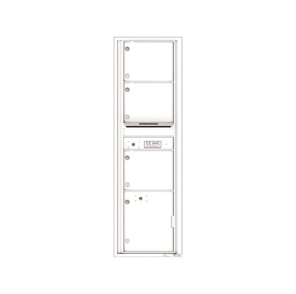 4C16S-03 3 Tenant Door Max-Height Single Column 4C Front Loading Mailbox