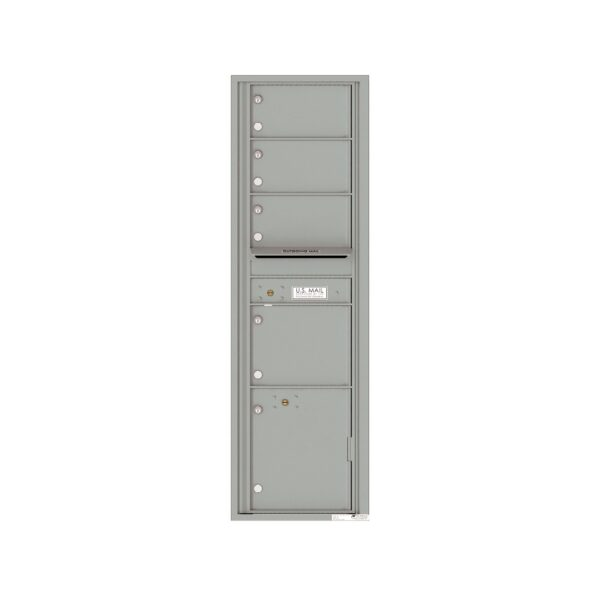 4C16S-04 4 Tenant Door Max-Height Single Column 4C Front Loading Mailbox