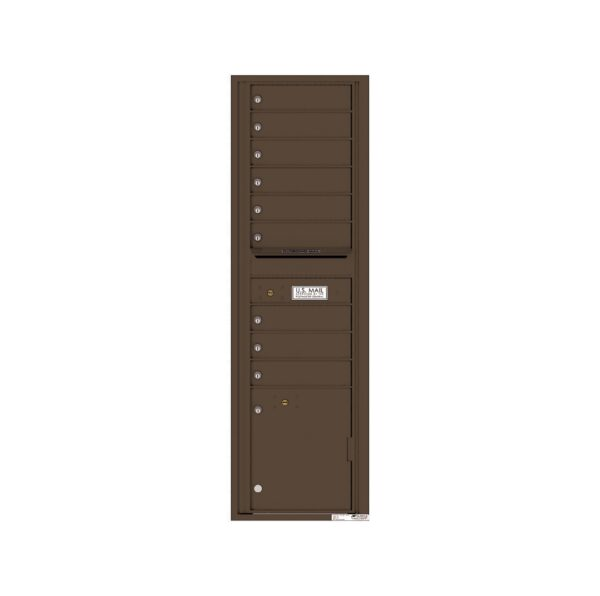 4C16S-09 9 Tenant Door Max-Height Single Column 4C Front Loading Mailbox