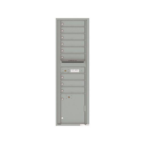 4C16S-09 9 Tenant Door Max-Height Single Column 4C Front Loading Mailbox
