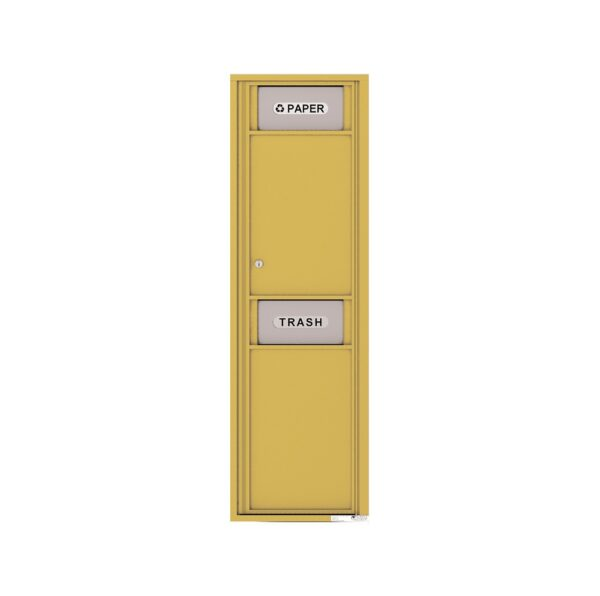 4C16S-BIN Trash/Recycling Bin Max-Height Single Column 4C Front Loading