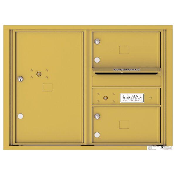 4C06D-02 2 Tenant Door 6 High 4C Front Loading Mailbox