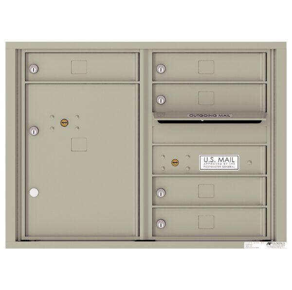 4C06D-05 5 Tenant Door 6 High 4C Front Loading Mailbox