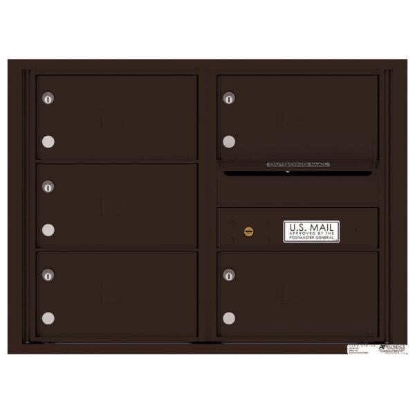 4C06D-05X Tenant Door 6 High 4C Front Loading Mailbox