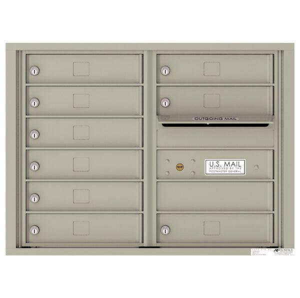 4C06D-09 9 Tenant Door 6 High 4C Front Loading Mailbox