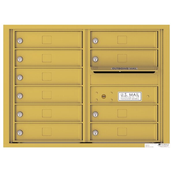 4C06D-10 10 Tenant Door 6 High 4C Front Loading Mailbox