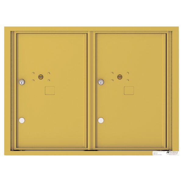 4C06D-2P 2 Parcel 6 High 4C Front Loading Outdoor Parcel Locker