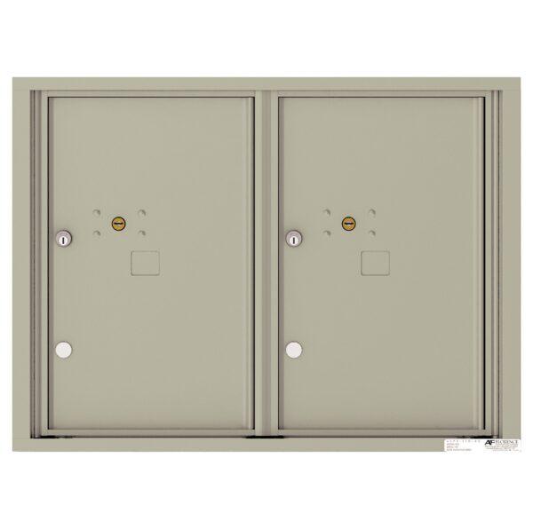 4C06D-2P 2 Parcel 6 High 4C Front Loading Outdoor Parcel Locker