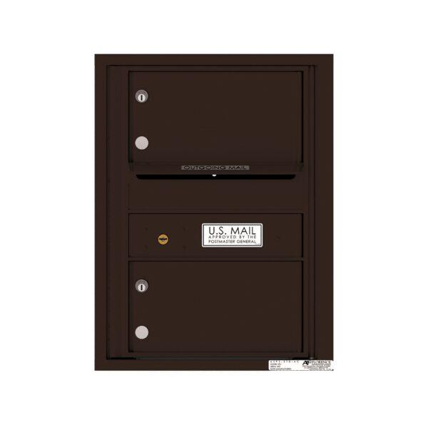 4C06S-02 2 Tenant Door 6 High Single Column 4C Front Loading Mailbox