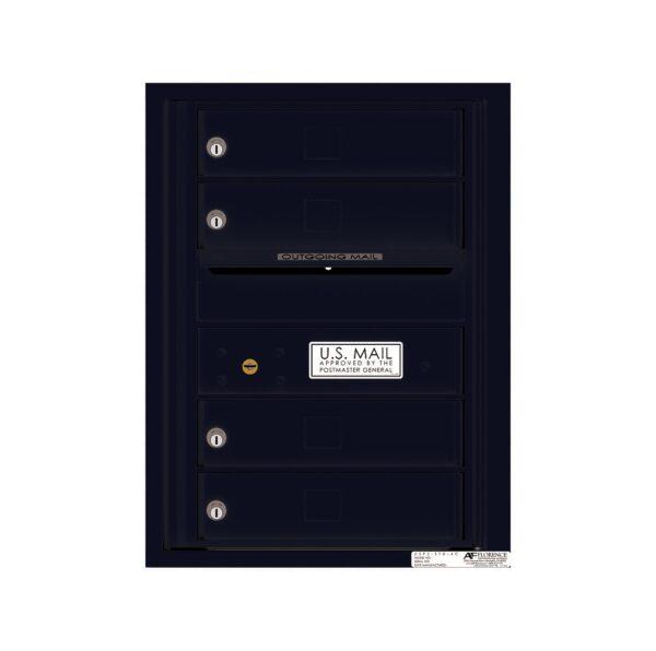 4C06S-04 4 Tenant Door 6 High Single Column 4C Front Loading Mailbox