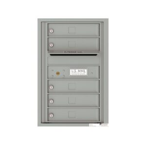 4C07S-05 1 Parcel 7 High Single Column 4C Front Loading Outdoor Parcel Locker