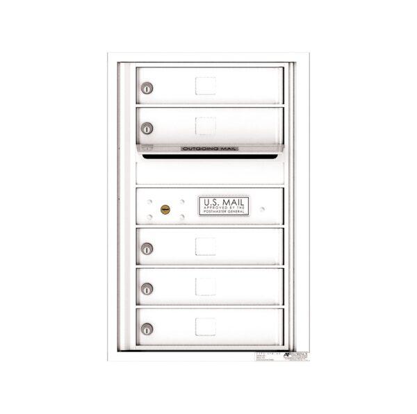 4C07S-05 1 Parcel 7 High Single Column 4C Front Loading Outdoor Parcel Locker
