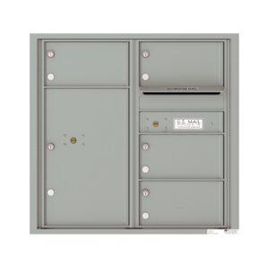 4C08D-04 4 Tenant Door 8 High 4C Front Loading Mailbox