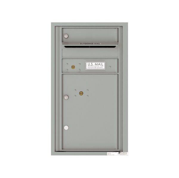 4C08S-01 1 Tenant Door 8 High Single Column 4C Front Loading Mailbox