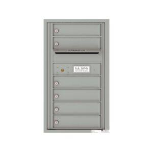 4C08S-06 6 Tenant Door 8 High Single Column 4C Front Loading Mailbox