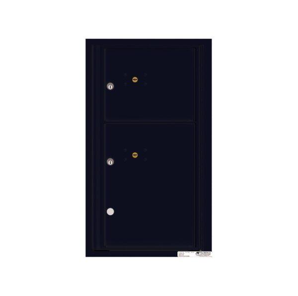 4C08S-2P 2 Parcel 8 High Single Column 4C Front Loading Outdoor Parcel Locker