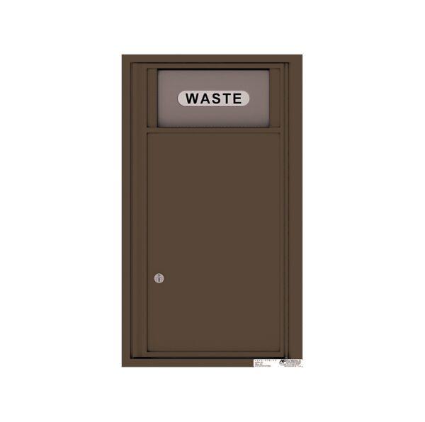 4C08S-BIN Trash / Recycling Bin 8 High Single Column 4C Front Loading