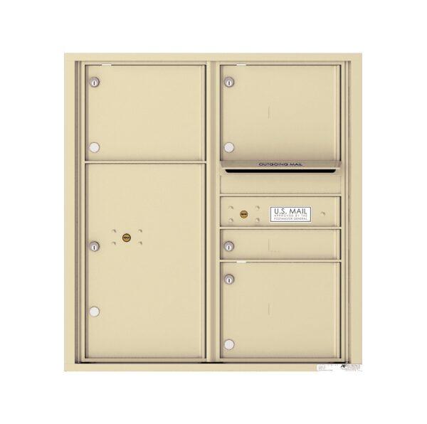 4C09D-04 4 Tenant Door 9 High 4C Front Loading Mailbox