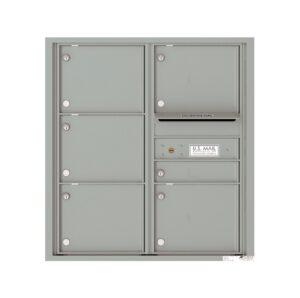 4C09D-06 6 Tenant Door 9 High 4C Front Loading Mailbox