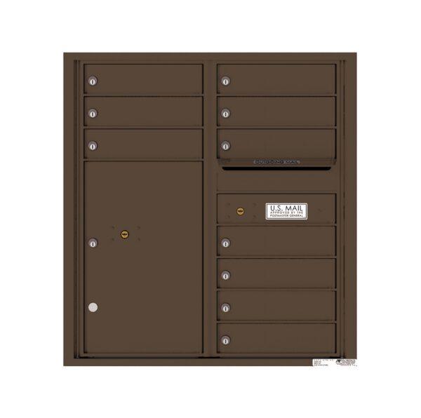 4C09D-10 10 Tenant Door 9 High 4C Front Loading Mailbox