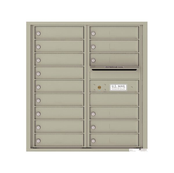 4C09D-15 15 Tenant Door 9 High 4C Front Loading Mailbox