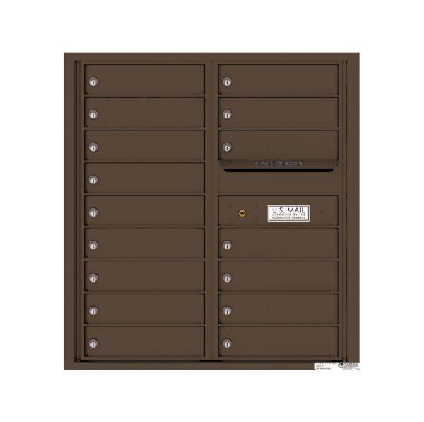 4C09D-16 16 Tenant Door 9 High 4C Front Loading Mailbox