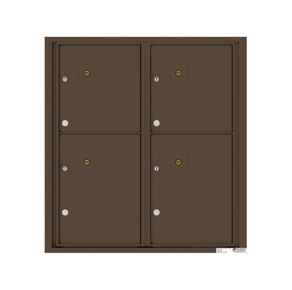 4C09D-4P 4 Parcel 9 High 4C Front Loading Outdoor Parcel Locker
