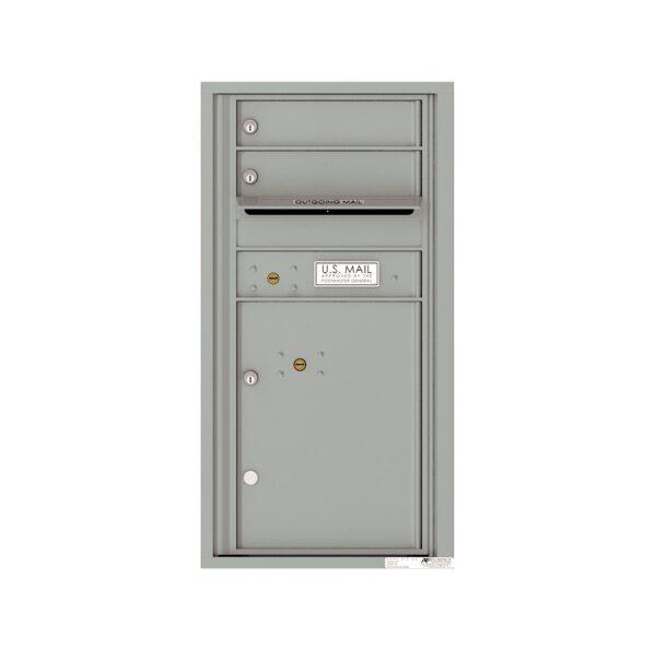 4C09S-02 2 Tenant Door 9 High Single Column 4C Front Loading Mailbox